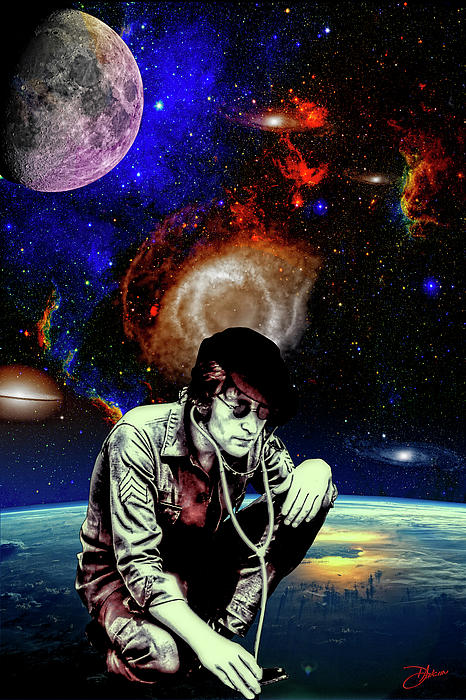 Lennon In The Sky Print by Dancin Artworks
