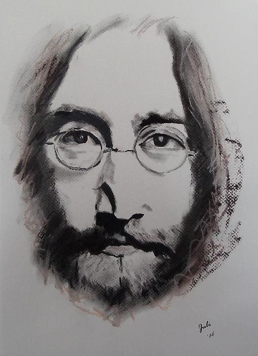 Lennon Print by Julie Hollis
