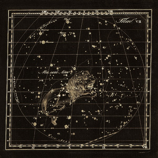 Leo Minor Constellation, 1829 Print by Science Photo Library