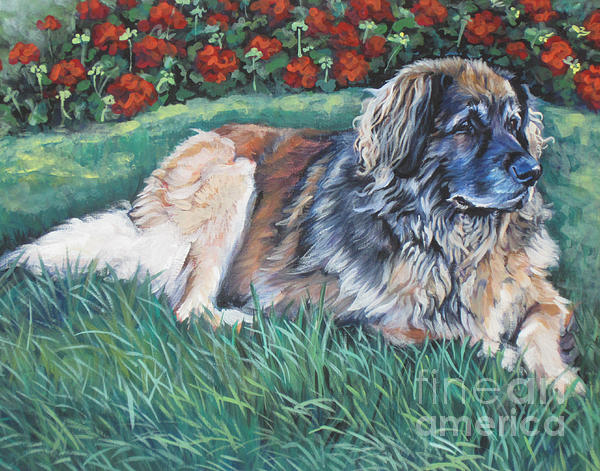 Leonberger Print by Lee Ann Shepard