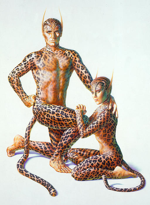 Leopard People Print by Andrew Farley