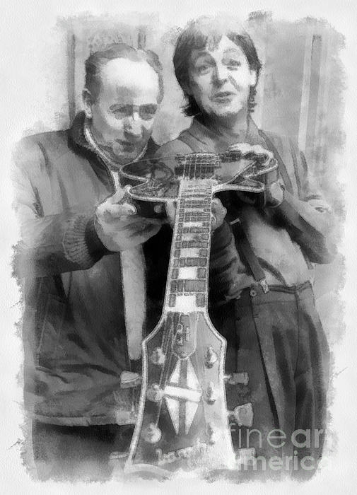 Les And Paul Print by Paulette B Wright