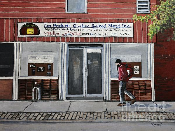 Les Produits Quebec Smoked Meat Inc Print by Reb Frost
