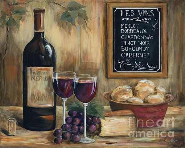 Les Vins Print by Marilyn Dunlap