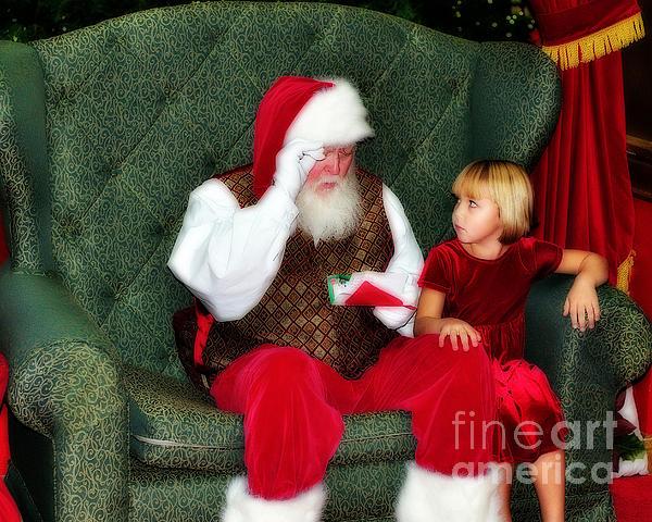 Letter To Santa Print by Eddie Yerkish