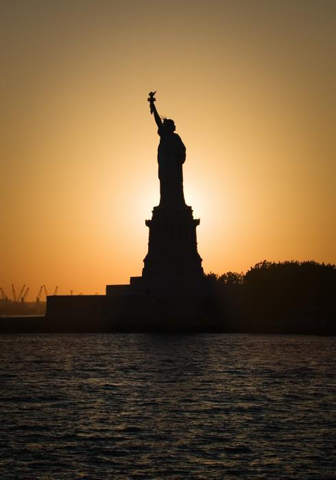 Liberty Sunset Print by David Bowman