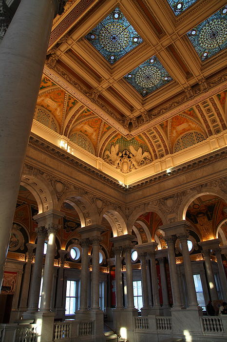 Library Of Congress - Washington Dc - 011321 Print by DC Photographer