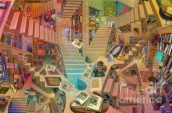 Library Of The Mind Art Print by Garry Walton