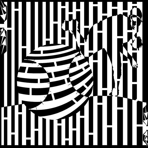 Life Is A Pitch Maze Print by Yonatan Frimer Maze Artist