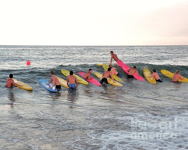 Lifeguard Competition Print by Kim Bemis