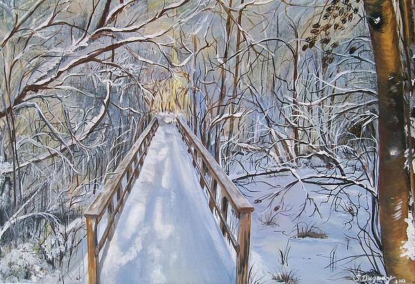 Life's  Path Print by Sharon Duguay