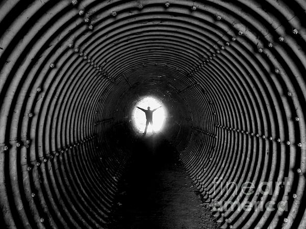 Light At The End Of The Tunnel? Print by C  Lythgo