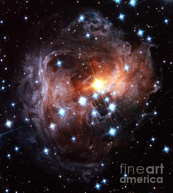 Light Echo Around Star V838 Monocerotis Print by Science Source