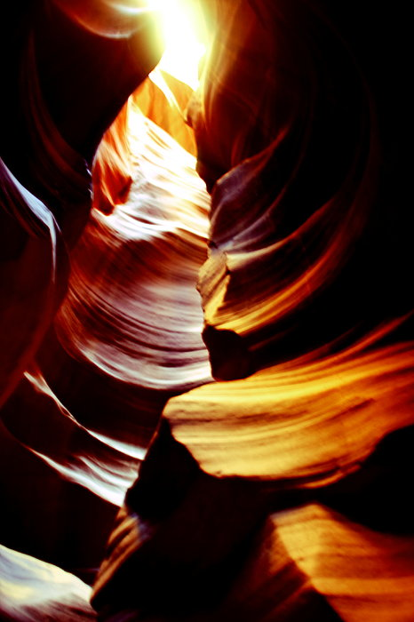 Light From Above - Canyon Abstract Print by Aidan Moran