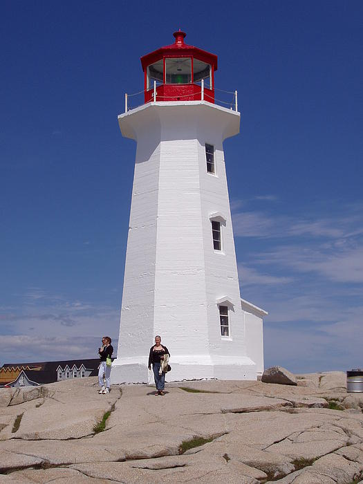Lighthouse At Peggy's Cove Print by Brenda Anne Foskett