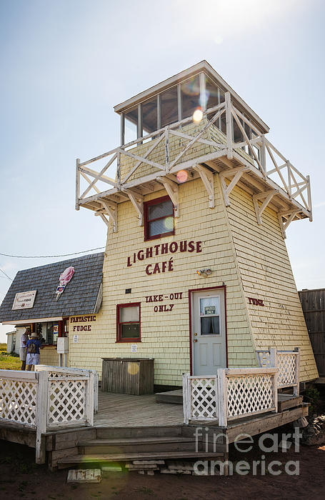 Lighthouse Cafe In North Rustico Print by Elena Elisseeva