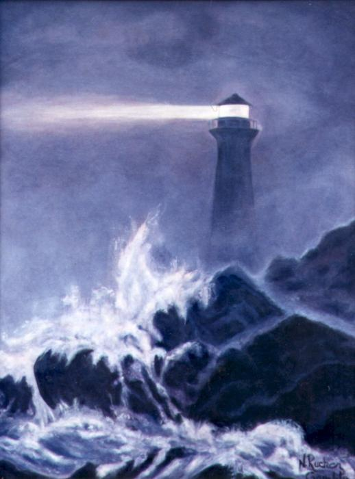 Nancy Rucker - Lighthouse in Dark