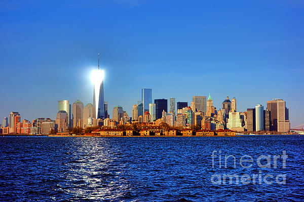 Lighthouse Manhattan Print by Olivier Le Queinec
