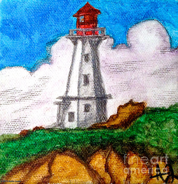 Lighthouse Nova Scotia Print by Anita Lewis