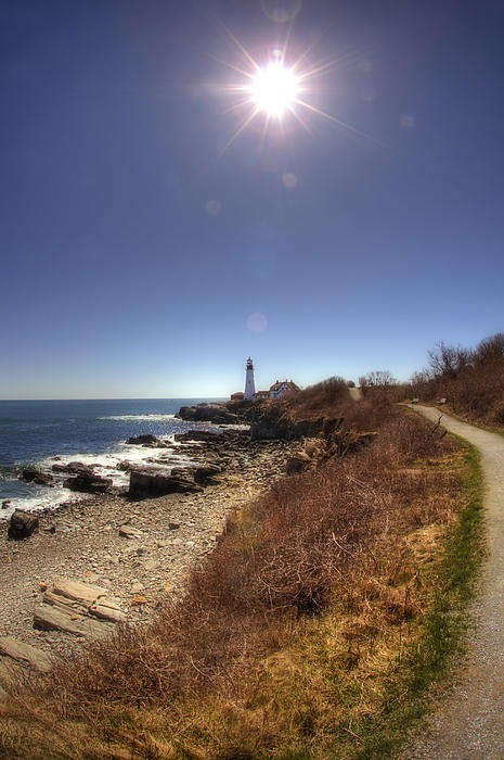 Lighthouse Path Print by Joann Vitali