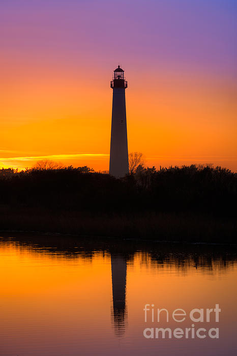 Lighthouse Silhouette Print by Michael Ver Sprill