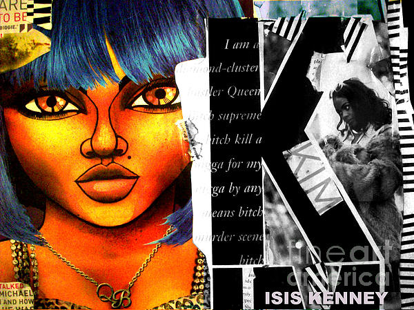 Lil Kim The Making Of A Queen Bee Print by Isis Kenney