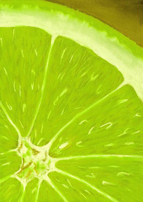 Lime Print by Anastasiya Malakhova