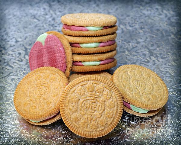 Limited Edition Ice Cream Oreo - Rainbow Shure-bert - Cookies - Bakery Print by Andee Design
