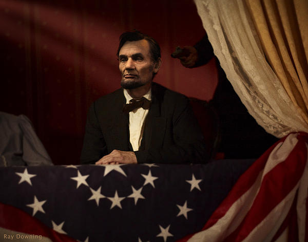 Lincoln At Fords Theater 2 Print by Ray Downing