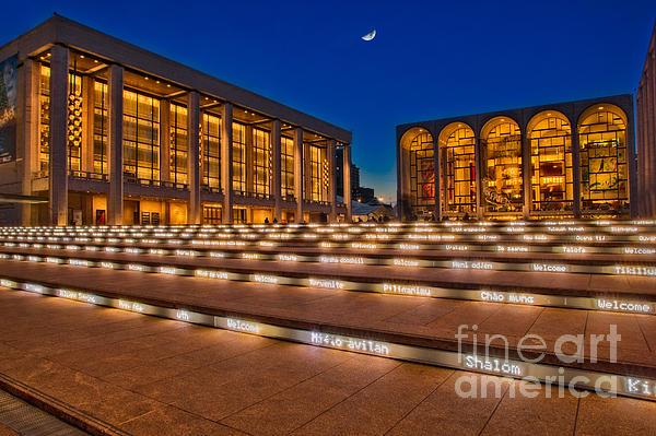 Lincoln Center Print by Susan Candelario