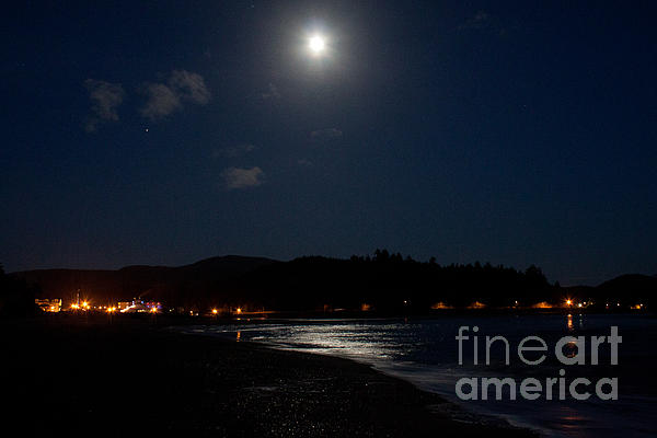 Lincoln City Moonlight Print by John Daly