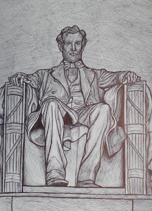 Lincoln Memorial Print by Christy Saunders Church