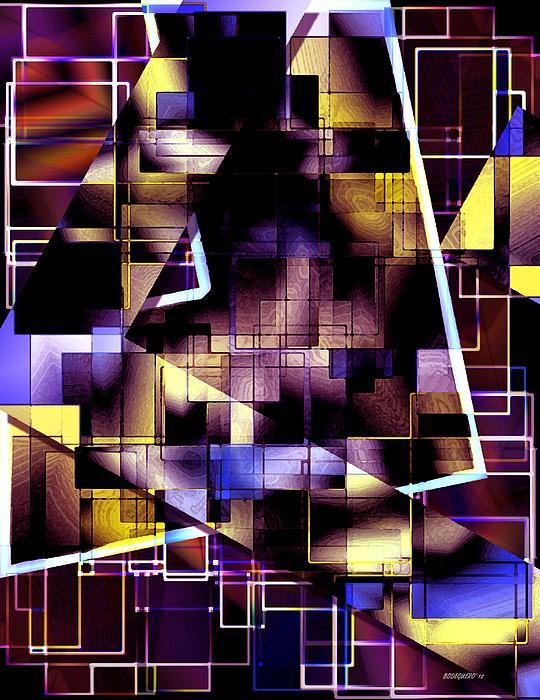 Lines Vs Diagonals Print by Mario  Perez