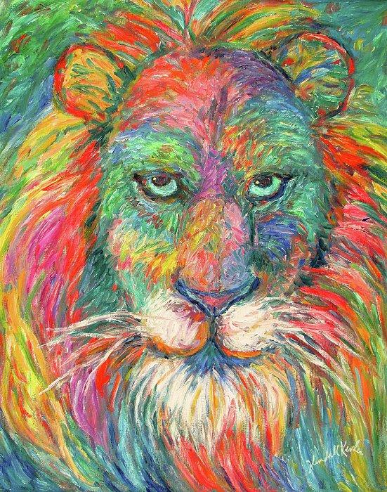 Lion Explosion Print by Kendall Kessler