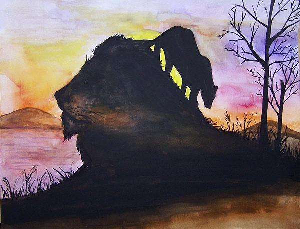 Lion Print by Laneea Tolley