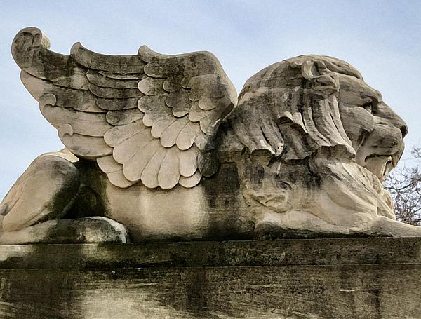 Lion With Wings Print by Patricia Januszkiewicz