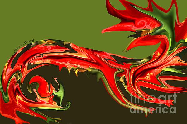 Liquid Dragon Print by Cheryl Young