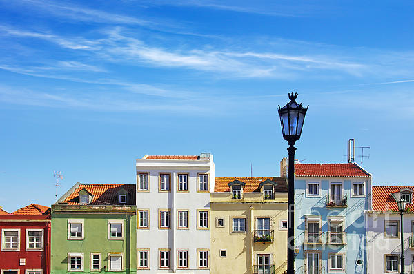 Lisbon Houses Print by Carlos Caetano
