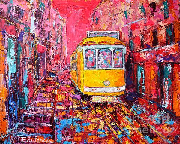 Lisbon Impression Print by Ana Maria Edulescu