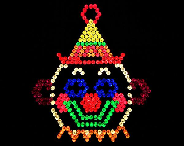 Lite Brite - The Classic Clown Print by Benjamin Yeager