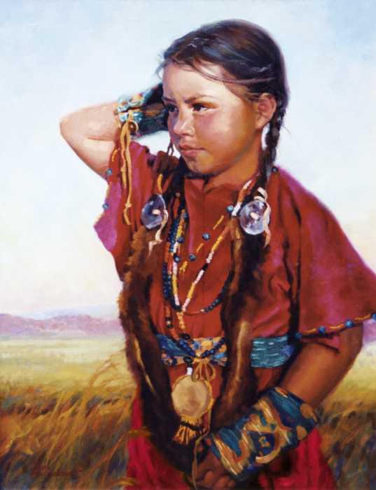 Little American Beauty II Print by Jean Hildebrant
