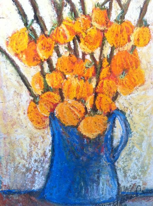 Little Blue Jug Print by Sherry Harradence