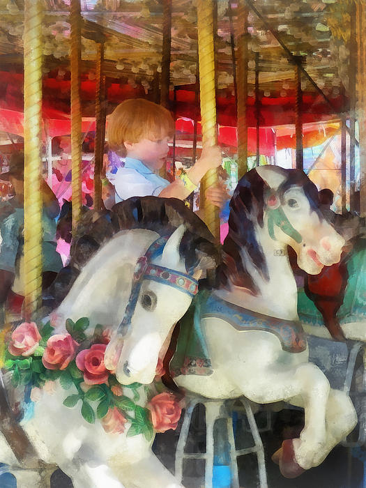 Susan Savad - Little Boy on Carousel
