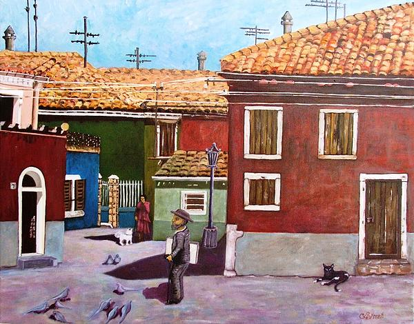 Little Corner Of Venice Print by Caroline Street
