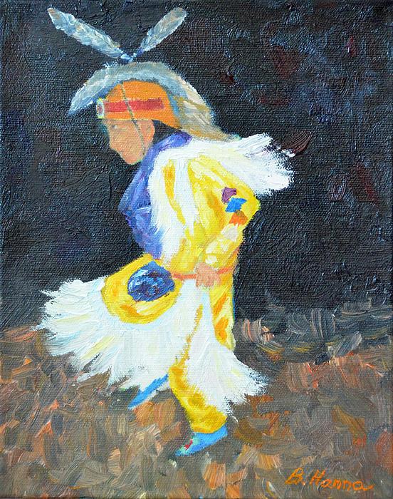 Little Grass Dancer Print by Burt Hanna