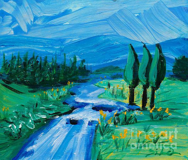 Little Landscape Print by Lidija Ivanek - SiLa