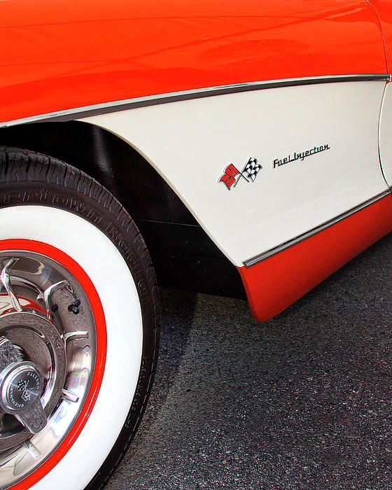 Little Red Corvette Palm Springs Print by William Dey