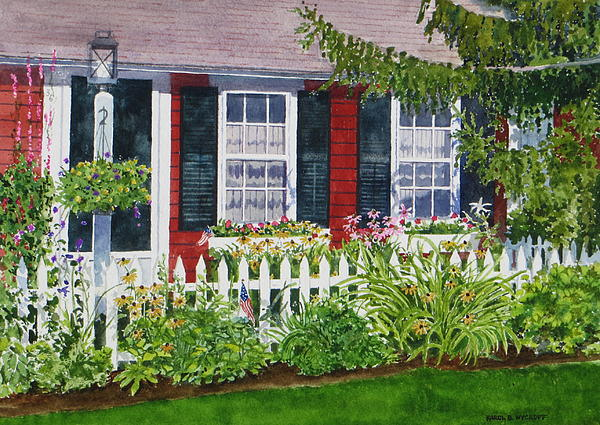Little Red Cottage Print by Karol Wyckoff