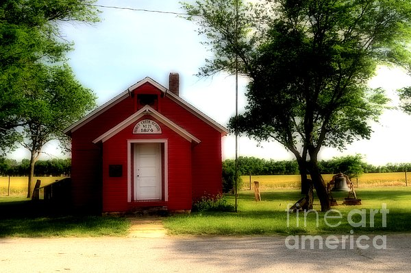 Little Red School House Print by Kathleen Struckle
