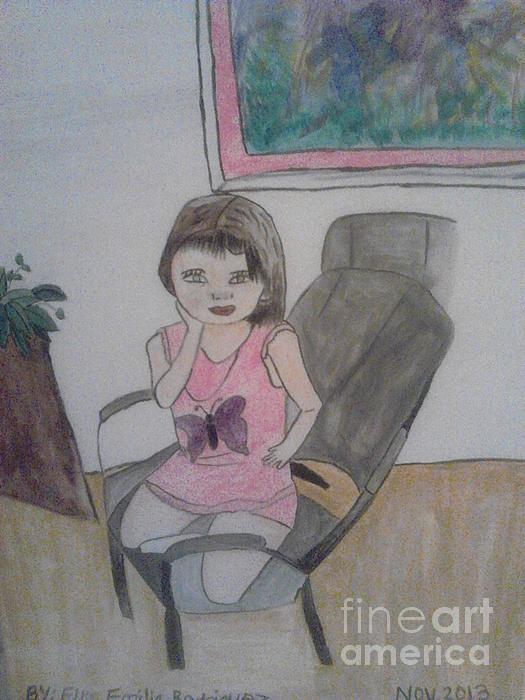 little Sophia Print by Amelia Rodriguez